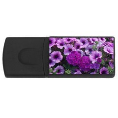 Wonderful Lilac Flower Mix Usb Flash Drive Rectangular (4 Gb) by MoreColorsinLife