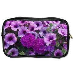 Wonderful Lilac Flower Mix Toiletries Bags 2 Side by MoreColorsinLife