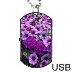 Wonderful Lilac Flower Mix Dog Tag Usb Flash (one Side) by MoreColorsinLife
