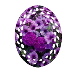 Wonderful Lilac Flower Mix Oval Filigree Ornament (two Sides) by MoreColorsinLife