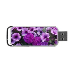 Wonderful Lilac Flower Mix Portable Usb Flash (two Sides) by MoreColorsinLife