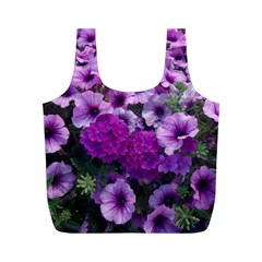 Wonderful Lilac Flower Mix Full Print Recycle Bags (m)  by MoreColorsinLife