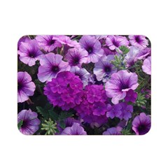 Wonderful Lilac Flower Mix Double Sided Flano Blanket (mini)  by MoreColorsinLife
