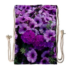 Wonderful Lilac Flower Mix Drawstring Bag (large) by MoreColorsinLife