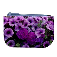 Wonderful Lilac Flower Mix Large Coin Purse by MoreColorsinLife
