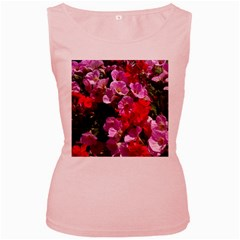Wonderful Pink Flower Mix Women s Pink Tank Top by MoreColorsinLife