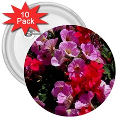 Wonderful Pink Flower Mix 3  Buttons (10 Pack)  by MoreColorsinLife