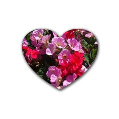 Wonderful Pink Flower Mix Heart Coaster (4 Pack)  by MoreColorsinLife