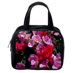 Wonderful Pink Flower Mix Classic Handbags (one Side) by MoreColorsinLife