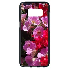 Wonderful Pink Flower Mix Samsung Galaxy S8 Black Seamless Case by MoreColorsinLife