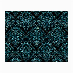 Damask1 Black Marble & Blue Green Water Small Glasses Cloth by trendistuff
