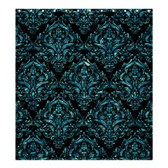 Damask1 Black Marble & Blue Green Water Shower Curtain 66  X 72  (large) by trendistuff