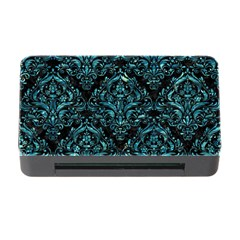Damask1 Black Marble & Blue Green Water Memory Card Reader With Cf by trendistuff