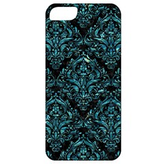Damask1 Black Marble & Blue Green Water Apple Iphone 5 Classic Hardshell Case by trendistuff