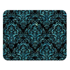Damask1 Black Marble & Blue Green Water Double Sided Flano Blanket (large) by trendistuff