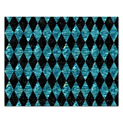 Diamond1 Black Marble & Blue Green Water Jigsaw Puzzle (rectangular) by trendistuff