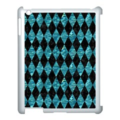 Diamond1 Black Marble & Blue Green Water Apple Ipad 3/4 Case (white) by trendistuff