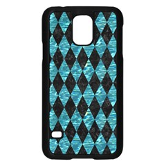 Diamond1 Black Marble & Blue Green Water Samsung Galaxy S5 Case (black) by trendistuff