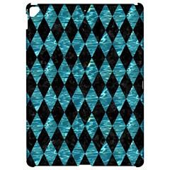 Diamond1 Black Marble & Blue Green Water Apple Ipad Pro 12 9   Hardshell Case by trendistuff