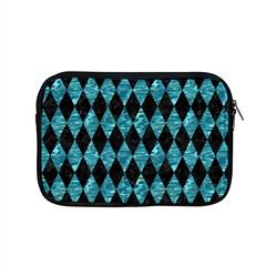 Diamond1 Black Marble & Blue Green Water Apple Macbook Pro 15  Zipper Case by trendistuff
