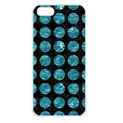 Circles1 Black Marble & Blue Green Water Apple Iphone 5 Seamless Case (white) by trendistuff