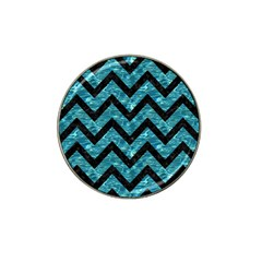 Chevron9 Black Marble & Blue Green Water (r) Hat Clip Ball Marker (10 Pack) by trendistuff