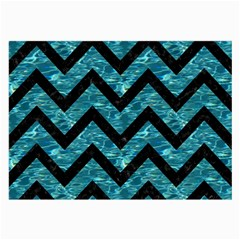 Chevron9 Black Marble & Blue Green Water (r) Large Glasses Cloth by trendistuff