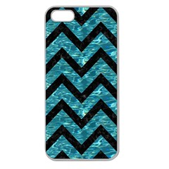 Chevron9 Black Marble & Blue Green Water (r) Apple Seamless Iphone 5 Case (clear) by trendistuff