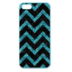 Chevron9 Black Marble & Blue Green Water Apple Seamless Iphone 5 Case (color) by trendistuff