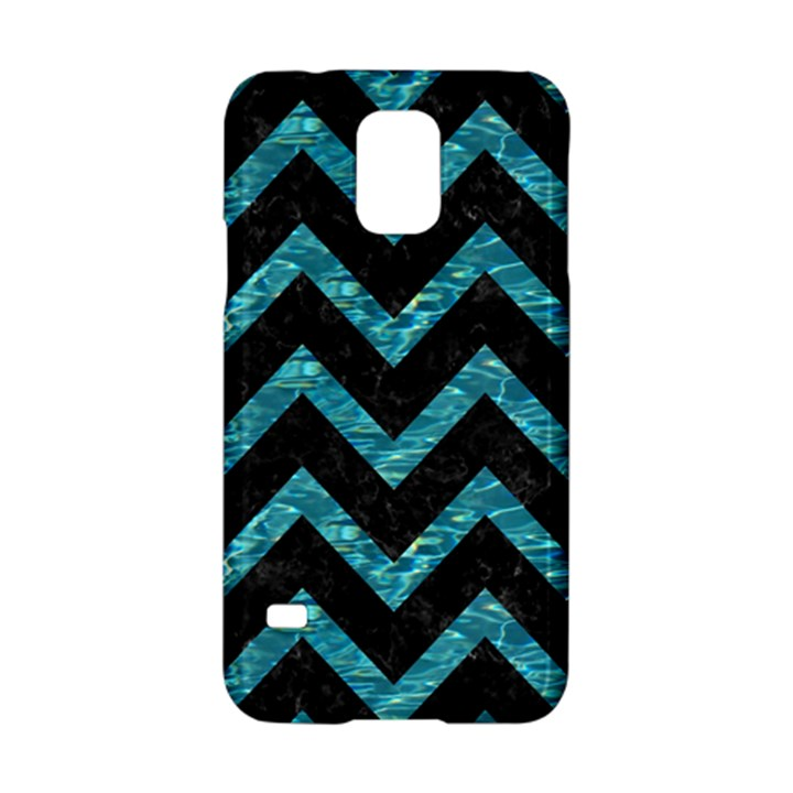 CHEVRON9 BLACK MARBLE & BLUE-GREEN WATER Samsung Galaxy S5 Hardshell Case