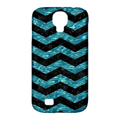 Chevron3 Black Marble & Blue Green Water Samsung Galaxy S4 Classic Hardshell Case (pc+silicone) by trendistuff