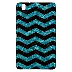 Chevron3 Black Marble & Blue Green Water Samsung Galaxy Tab Pro 8 4 Hardshell Case by trendistuff