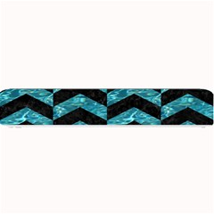 Chevron2 Black Marble & Blue Green Water Small Bar Mat by trendistuff