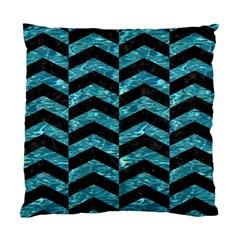Chevron2 Black Marble & Blue Green Water Standard Cushion Case (two Sides) by trendistuff
