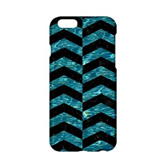 Chevron2 Black Marble & Blue Green Water Apple Iphone 6/6s Hardshell Case by trendistuff