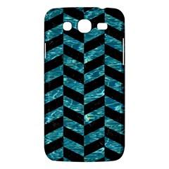 Chevron1 Black Marble & Blue Green Water Samsung Galaxy Mega 5 8 I9152 Hardshell Case  by trendistuff