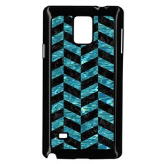 Chevron1 Black Marble & Blue Green Water Samsung Galaxy Note 4 Case (black) by trendistuff