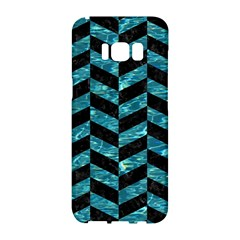 Chevron1 Black Marble & Blue Green Water Samsung Galaxy S8 Hardshell Case  by trendistuff