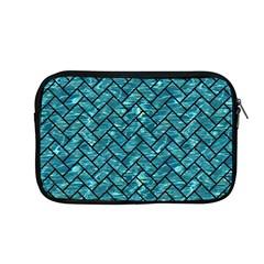 Brick2 Black Marble & Blue Green Water (r) Apple Macbook Pro 13  Zipper Case by trendistuff