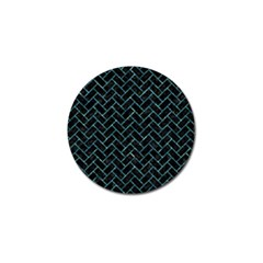 Brick2 Black Marble & Blue Green Water Golf Ball Marker (10 Pack) by trendistuff