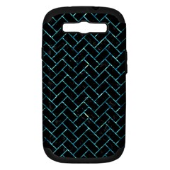 Brick2 Black Marble & Blue Green Water Samsung Galaxy S Iii Hardshell Case (pc+silicone) by trendistuff