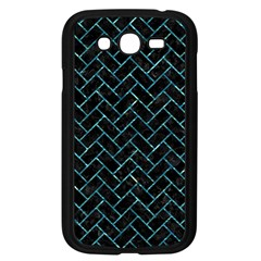 Brick2 Black Marble & Blue Green Water Samsung Galaxy Grand Duos I9082 Case (black) by trendistuff