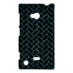 Brick2 Black Marble & Blue Green Water Nokia Lumia 720 Hardshell Case by trendistuff