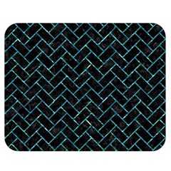 Brick2 Black Marble & Blue Green Water Double Sided Flano Blanket (medium)