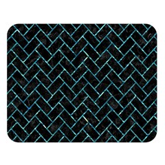 Brick2 Black Marble & Blue Green Water Double Sided Flano Blanket (large) by trendistuff