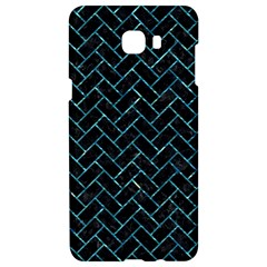 Brick2 Black Marble & Blue Green Water Samsung C9 Pro Hardshell Case  by trendistuff