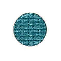 Brick1 Black Marble & Blue Green Water (r) Hat Clip Ball Marker (10 Pack) by trendistuff