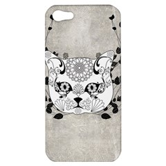 Wonderful Sugar Cat Skull Apple Iphone 5 Hardshell Case by FantasyWorld7