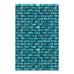Brick1 Black Marble & Blue Green Water (r) Shower Curtain 48  X 72  (small) by trendistuff