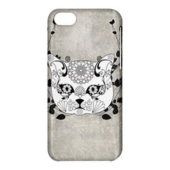 Wonderful Sugar Cat Skull Apple Iphone 5c Hardshell Case by FantasyWorld7